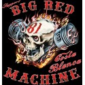 Hells Angels Big Red Machine Piston Scull Support81 T-Shirt