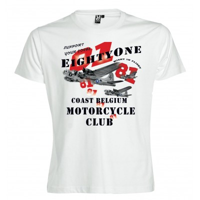 Hells Angels Coast Belgium Big Red Machine B-17 Support81 T-Shirt