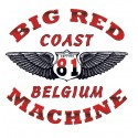 Hells Angels Coast Belgium Big Red Machine Wings Support81 T-Shirt