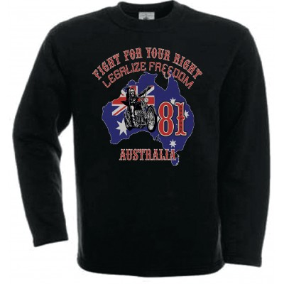 Hells Angels Australia BHC Support81 sweatshirt black