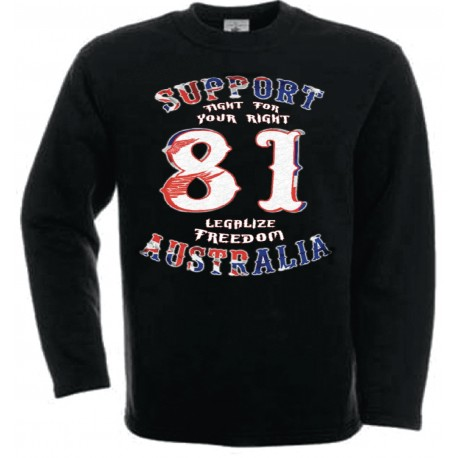Hells Angels Australia BHC Freedom Support81 sweatshirt black