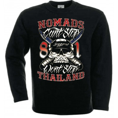 Hells Angels Nomads Thailand Don't Stop Support81 sweatshirt black
