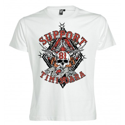 Hells Angels Timisoara Support81 White T-Shirt