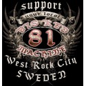 Hells Angels West Rock City Crest Support81 Black Sweater