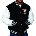 Hells Angels  Support81 Varsity Jacket Black