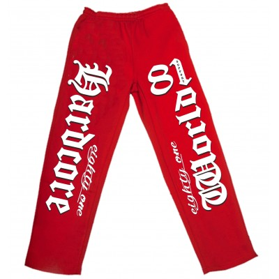 Hells Angels Hardcore Jogging Pants red Chandal rojo