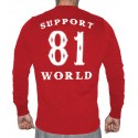 Hells Angels Anniversary Support81 Sweater  Big Red Machine Red