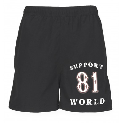 Support 81 Hells Angels Sport Shorts World black