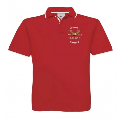 Hells Angels Anniversary Support81 Polo Red  Big Red Machine