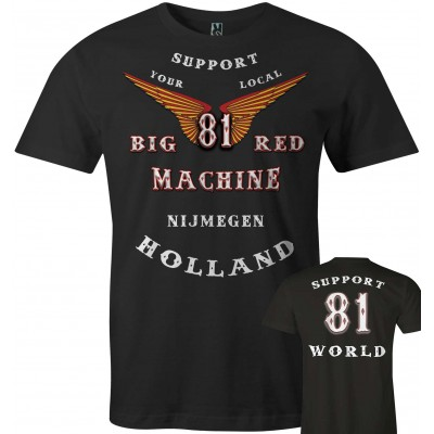 Hells Angels Nijmegen Holland Big Red Machine Anniversary Support81 T-Shirt