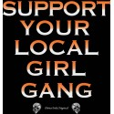 Hells Angels Support Your Local Girl Gang  Ladies loose fit T-Shirt