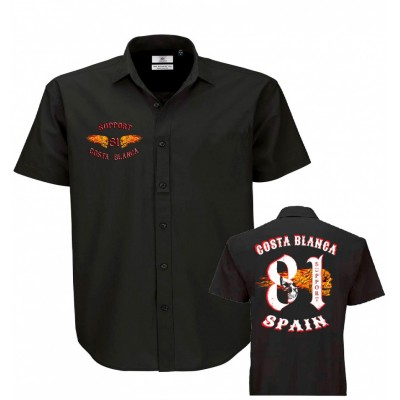Hells Angels Big Red Machine  Dickies Style Flaming Wings  Support81 Camicie