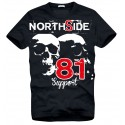 Hells Angels NorthSide Spain black T-Shirt model 1 Front + Back side printed
