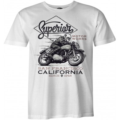 Superior Motorworks San Francisco California Vintage biker t-shirt