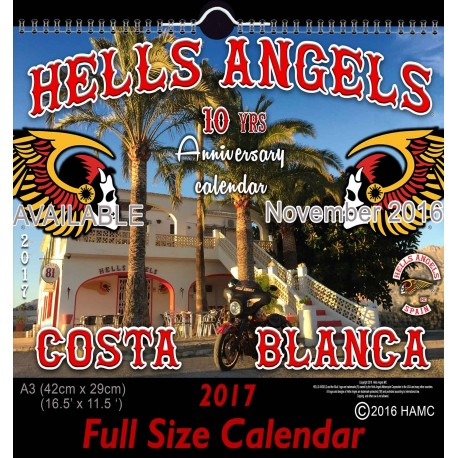 Hells Angels Support 81 Calendario 10 year Anniversary Limited Edition