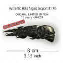 Hells Angels Black Support 81 Pin 10 year Anniversary Limited Edition