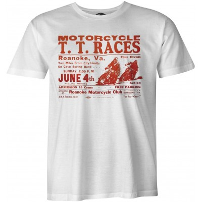 TT Races Roanoke  Vintage biker t-shirt