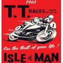 TT Races 1961 Isle of Man Vintage biker t-shirt