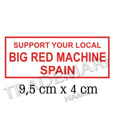 Hells Angels sticker Support 81 Big Red Machine Spain