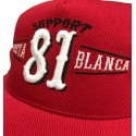 Hells Angels Support 81 Costa Blanca Spain  embroidery baseball cap red