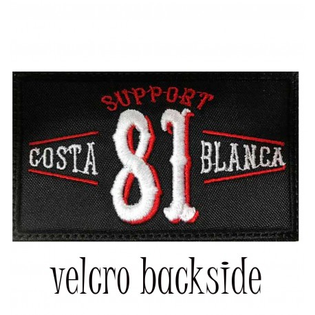 Hells Angels Support 81 vintage Costa Blanca patch