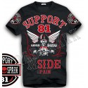 Hells Angels NorthSide Spain black T-Shirt model 7 Front + sleeves printed