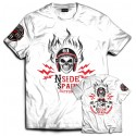 Hells Angels NorthSide Spain black T-Shirt model 8 Front + Backside + sleeve  printed