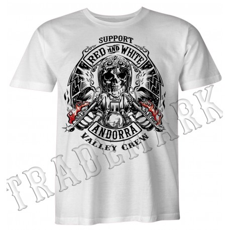 Hells Angels Support81 Andorra Spain White T-Shirt model 5
