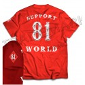 81 Vintage Support Red T-Shirt