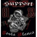 Hells Angels Support 81 T-shirt 3 Skulls dont hear dont speak dont see