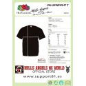 Hells Angels NorthSide Spain black T-Shirt model 4 Front + Back side printed
