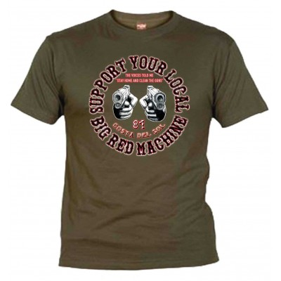 Guns Olive T-Shirt Support81 Costa del Sol