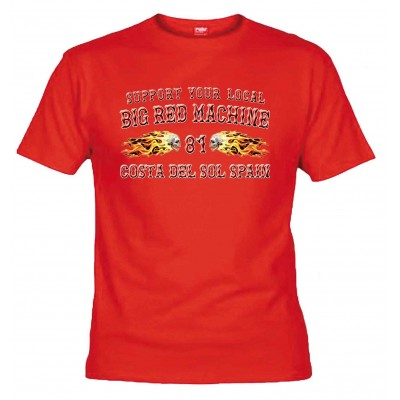 Flamed Sculls Rouge T-shirt Support81 Costa del Sol