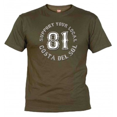 Support 81 Olive T-Shirt Costa del Sol