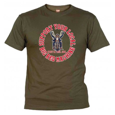 Biker Olive T-Shirt Support81 Costa del Sol