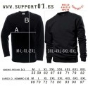 White Scull Support81 sweatshirt black