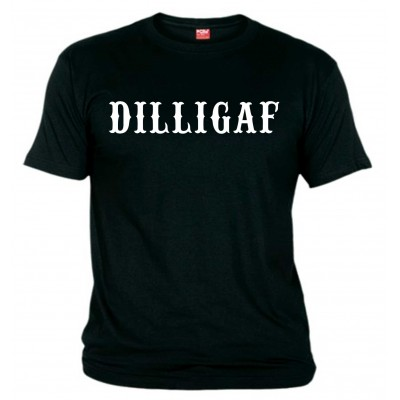 DILLIGAF Support81 Black T-Shirt