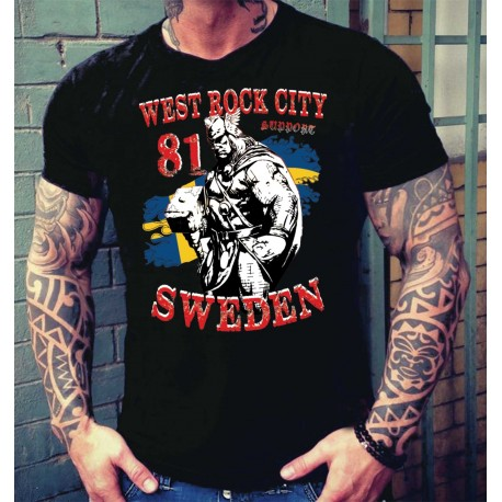 Hells Angels Thor West Rock City Support81 Black T-Shirt