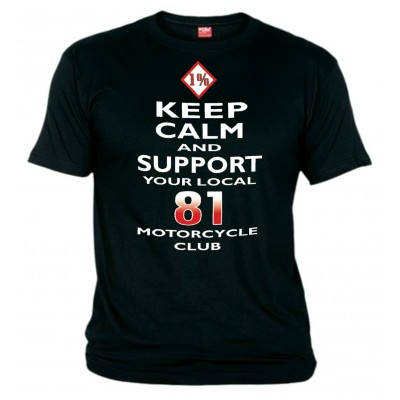 Hells Angels Keep Calm Support81 Black T-Shirt