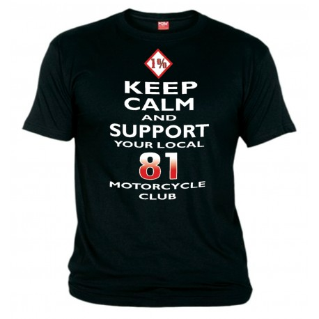 Hells Angels Keep Calm Support81 White T-Shirt